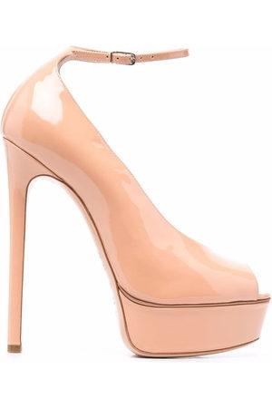 Casadei Flora Roxanne peep-toe pumps - Neutrals