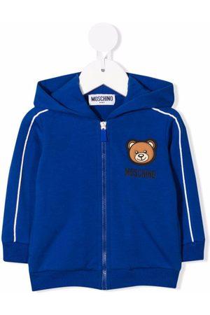 Moschino Kids Teddy bear piped-trim hoodie