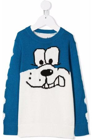 Stella McCartney Boys Sweaters - Cartoon-print knitted jumper