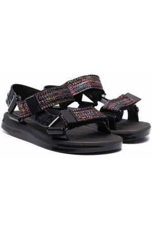 Mini Melissa Metallic touch-strap sandals