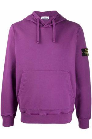 Stone Island Men Hoodies - Logo-patch pullover hoodie