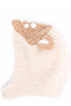 Il Gufo Teddy-shearling hat - Neutrals