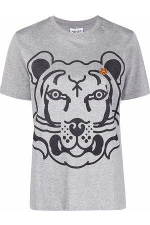 Kenzo Tiger-print short-sleeved T-shirt - Grey