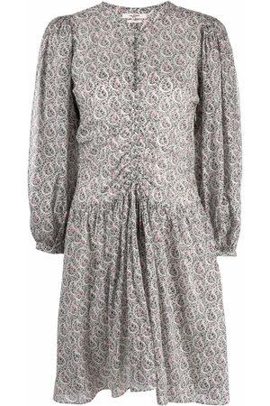 Isabel Marant Étoile Floral-print draped dress - Neutrals