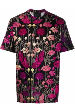 John Richmond Floral chain print T-shirt