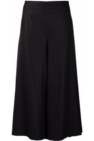 Pt01 High-waist wool-blend culottes