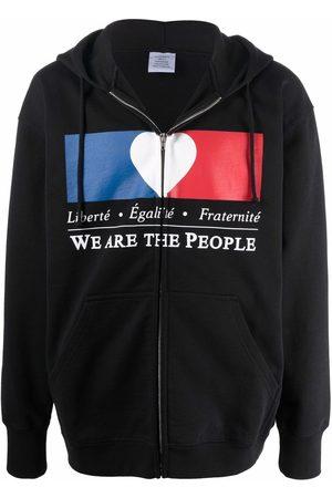 VETEMENTS We Are The People zipped hoodie