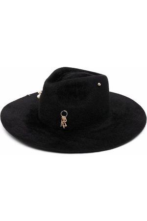 Ruslan Baginskiy Pierced felt fedora hat