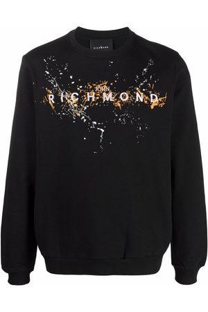John Richmond Logo-embroidered sweater
