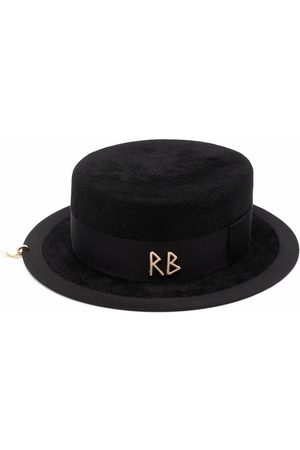 Ruslan Baginskiy Women Hats - Canotier pierced felted hat