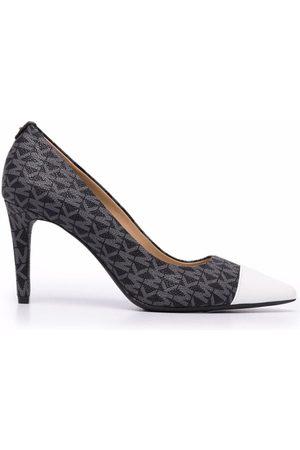 Michael Michael Kors Women High Heels - Dorothy monogram-print leather pumps