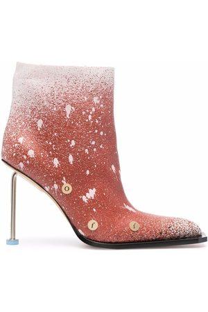 OFF-WHITE Women Heels - Paint splatter stiletto boots