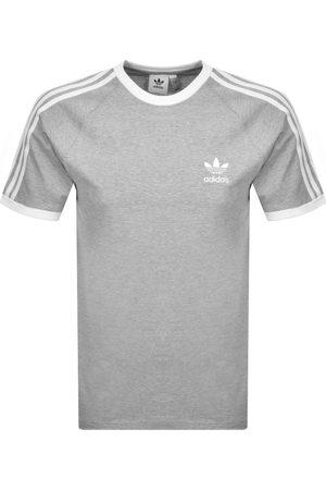 adidas 3 Stripe T Shirt Grey
