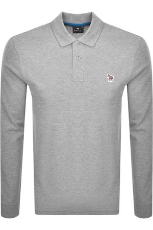 Paul Smith PS By Long Sleeved Polo T Shirt Grey