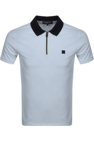 Michael Kors Half Zip Polo T Shirt