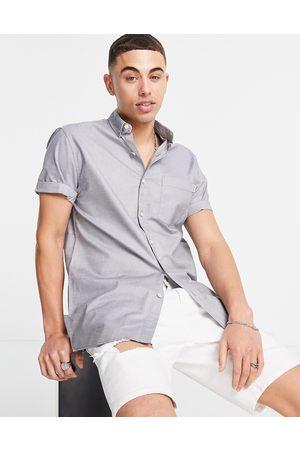 Topman Men Short sleeves - Short sleeve oxford shirt in -Grey