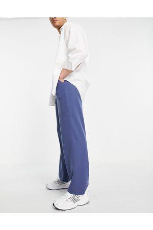 ASOS Wide leg smart pants in navy