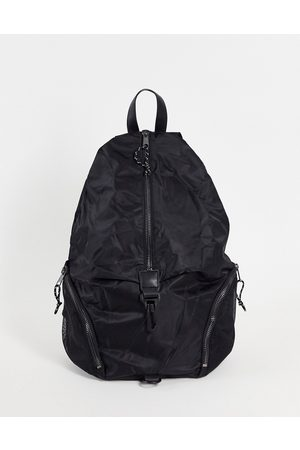 ASOS Backpack with front clip detail in nylon