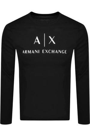 Armani Long Sleeve Logo T Shirt