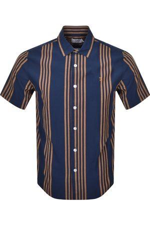 Farah Seersucker Short Sleeve Shirt Navy
