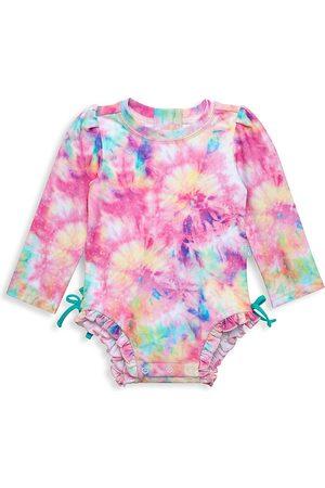 Posh Peanut Baby's, Little Girl's & Girl's Joplin Ruffle Rashguard Swimsuit - Joplin - Size Newborn