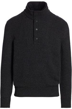 Ermenegildo Zegna Men's Cashmere & Suede Pullover Sweater - Grey - Size 48