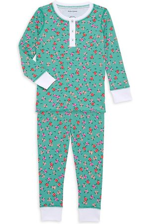 Roller Rabbit Baby's, Little Girl's & Girl's Floral Print Two-Piece Lounge Set - Teal - Size 8