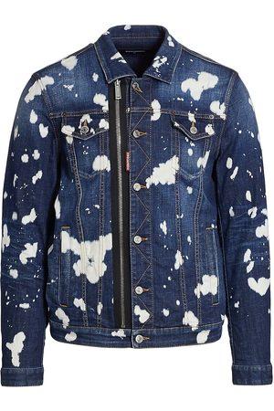 Dsquared2 Men's Bleach Splash Denim Jacket - Navy - Size 42
