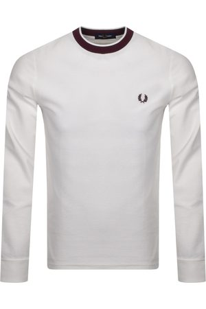 Fred Perry Long Sleeve Crepe T Shirt