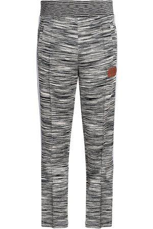 Palm Angels X Missoni Men's Knitted Trackpants - Melange Grey - Size XXL