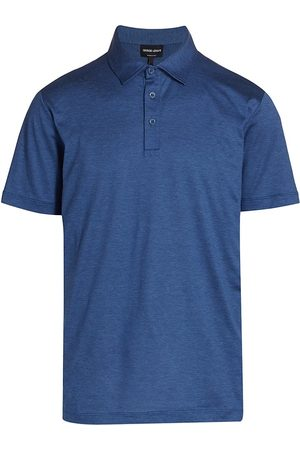 Armani Men's Silk & Cotton Polo - - Size 48