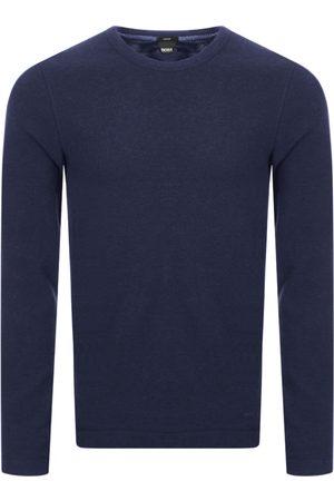 HUGO BOSS BOSS Long Sleeved Tempest T Shirt Navy