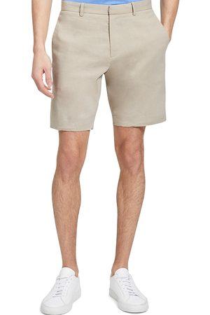 THEORY Men's Curtis Crunch Linen-Blend Shorts - Stone - Size 29