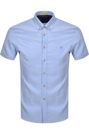 Ted Baker Yasai Oxford Short Sleeved Shirt