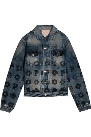 Purple Brand Men's Fade Monogram Indigo Denim Jacket - Fade - Size Medium