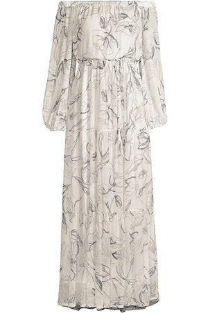 Milly Women's Pierce Off-The-Shoulder Maxi Dress - - Size 12