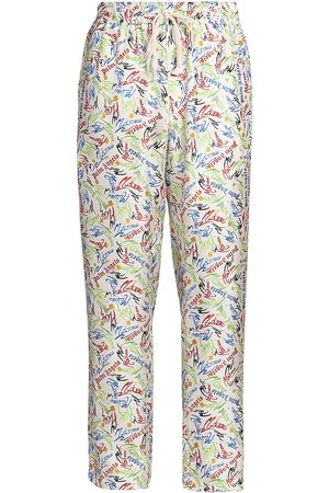 Palm Angels X Missoni Men's Drawstring Scribble Pajama Pants - Off - Size XS