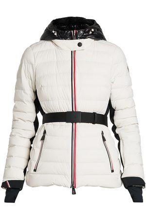 Moncler Women's Grenoble Bruche French Flag Belted Puffer Ski Jacket - - Size XXL
