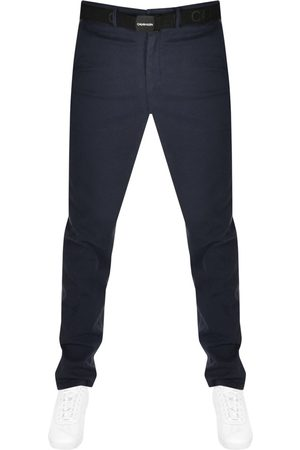 Calvin Klein Slim Fit Chino Trousers Navy