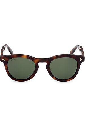 Bally Men's 49MM Plastic Round Sunglasses - Havana