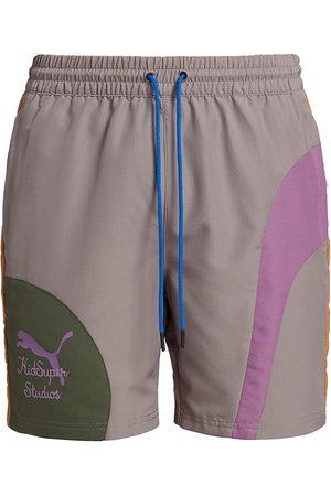 PUMA Men's x KidSuper Woven Shorts - Grey - Size Medium