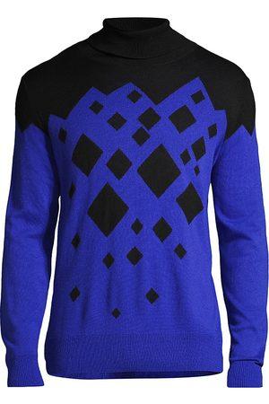 CANALI Men's Black Edition Mountain Turtleneck Sweater - - Size 42