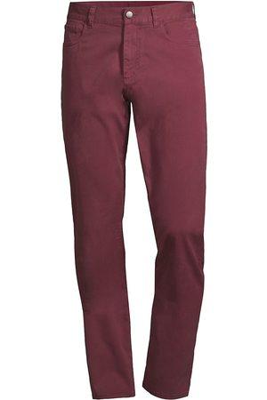 CANALI Men's Slim Fit Stretch Jeans - Burgundy - Size 32