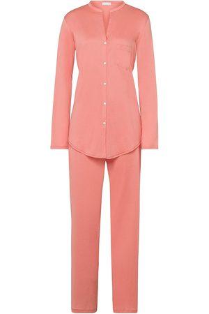Hanro Women's Cotton Deluxe Pajama Set - Carnation - Size XL