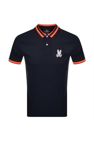 Bunny Rushup Polo T Shirt Navy