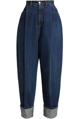 Alexander McQueen Women's Wide-Leg Cropped Jeans - Denim - Size 24