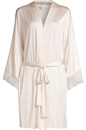 Hanro Women's Irini Kimono Robe - Fullmoon - Size Medium