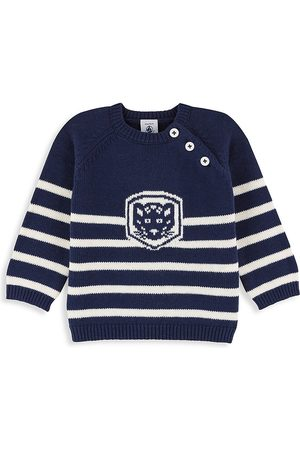 Petit Bateau Baby's & Little Boy's Striped Intarsia Sweater - Navy - Size 24 Months