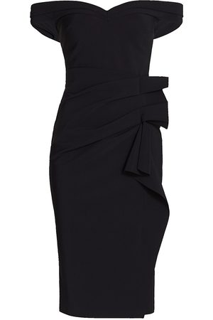 CHIARA BONI Women's Off-the-Shoulder Midi Dress - - Size 12