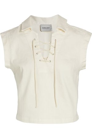 RACHEL COMEY Women's Nave Lace-Up Top - Dirty - Size 10
